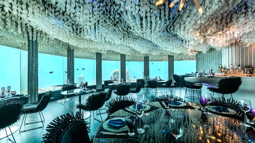 unique underwater restaurant indian ocean maldives