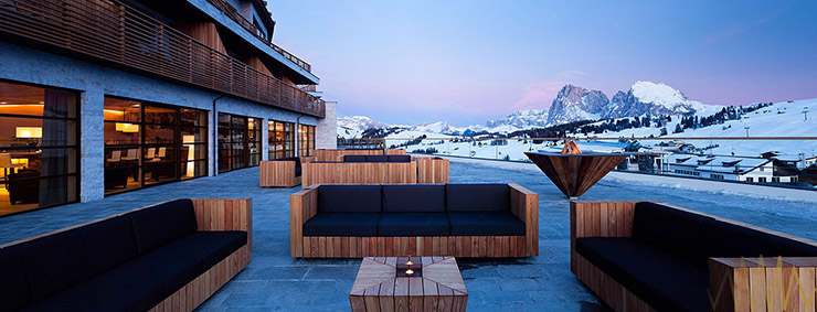 Alpina dolomites luxury spa lodge for all year for Luxury hotel 5 stelle