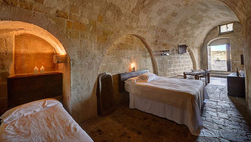 Ancient Cave Room Renovated into Spread Hotel