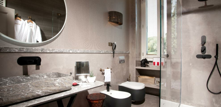 design luxury bathroom hotel rome