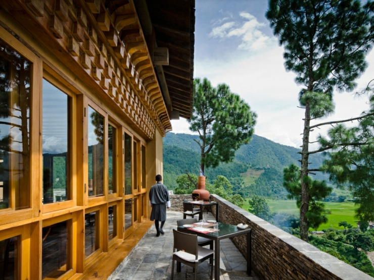 wooden outdoor hotel bhutan