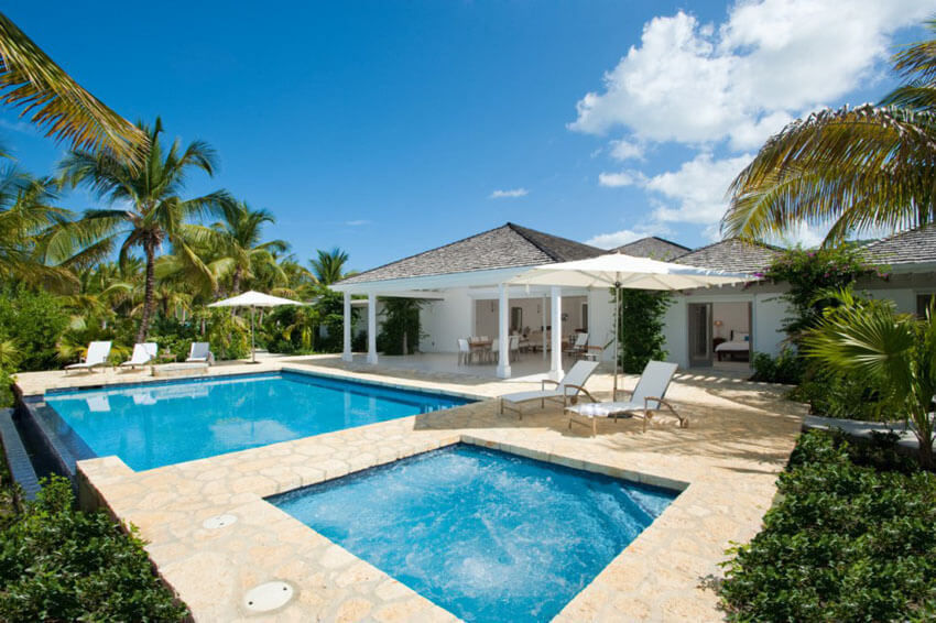 outdoor pool exotic rental vacation luxury villa