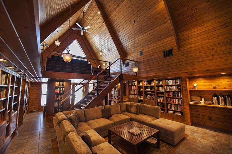 the library at canoe bay lodging