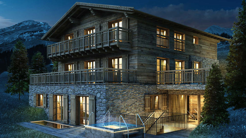 Chalet ulmann luxury accommodation for ski holiday in for Luxury hotels austria