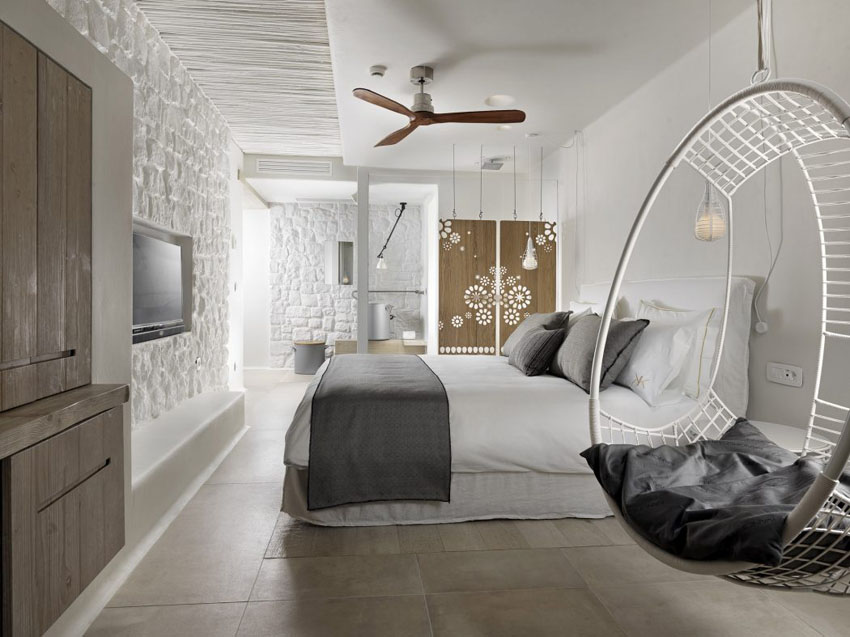 esthetic minimalistic research boutique hotel's suites mykonos