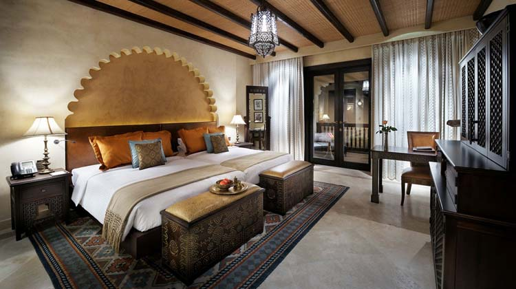 romantic suite exotic resort in desert
