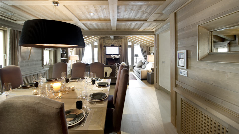 Chalet perle blanche get a luxury relax in french alps - Deco style chalet moderne ...