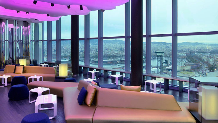 eclipse rooftop bar hotel w barcelona