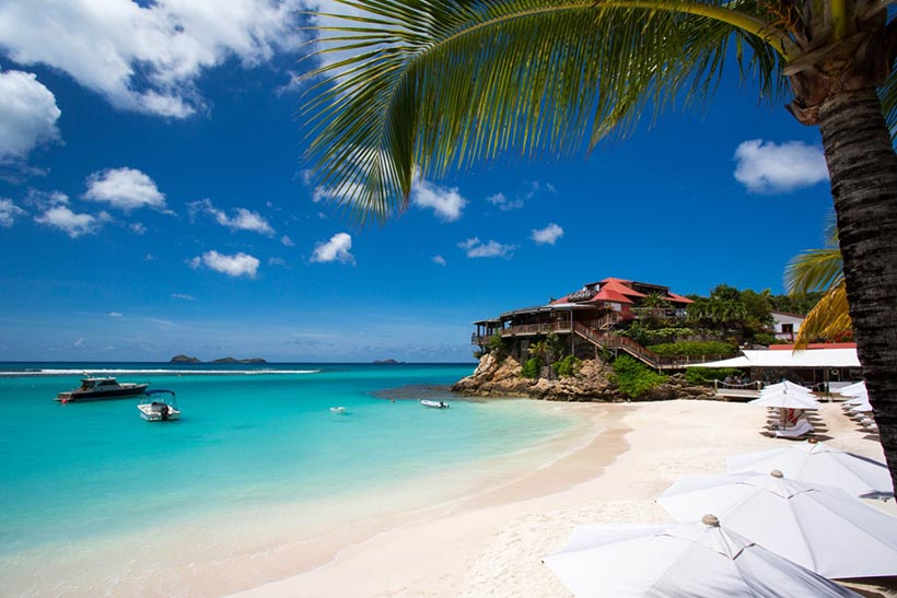 Enjoy Private Beach of Luxurious Hotel Eden Rock in St.Barths