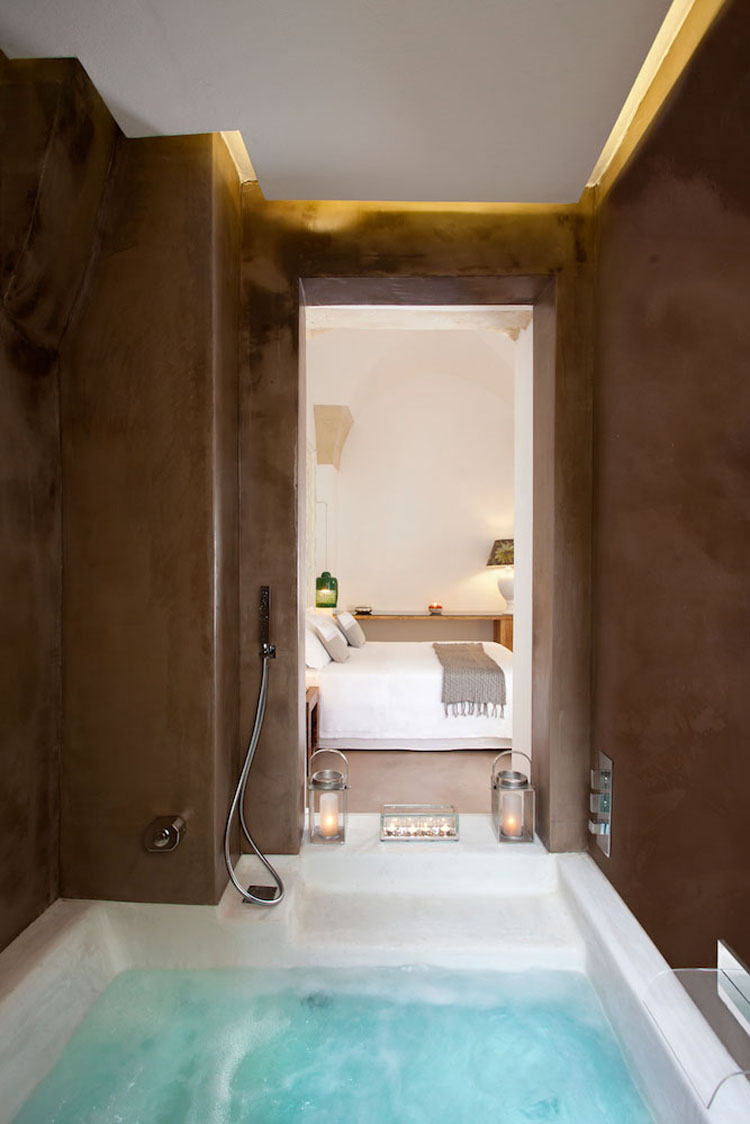 Typical Rustic Interior Design Of The Hotel Applies Also To Suites Bathrooms