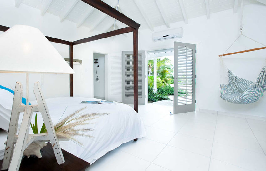 luxury exotic bedroom conopy bed antigua vacation villa