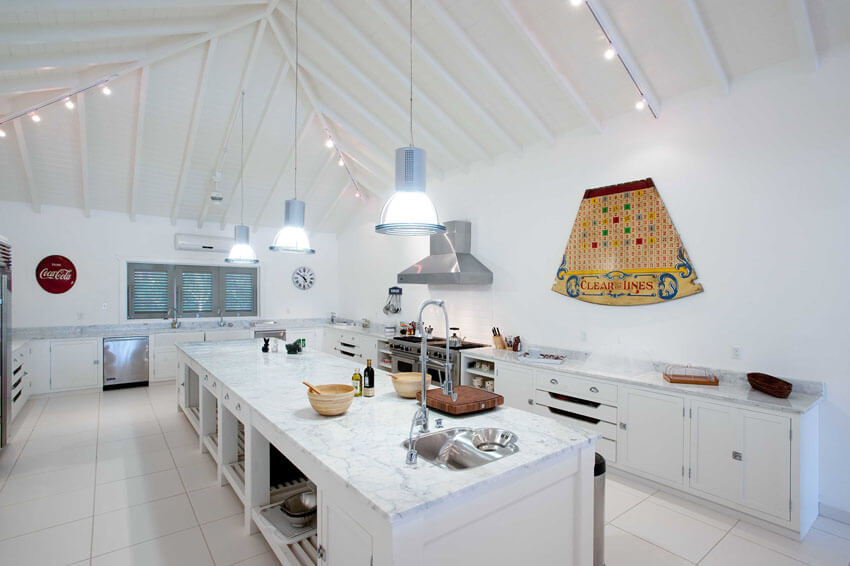 big exotic tropica kitchen luxury rental vacation antigua