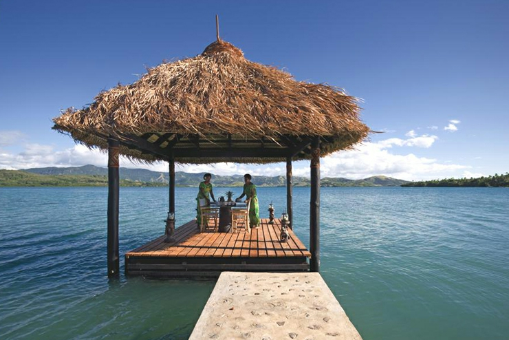 exotic fiji gazebo luxury hotel resort