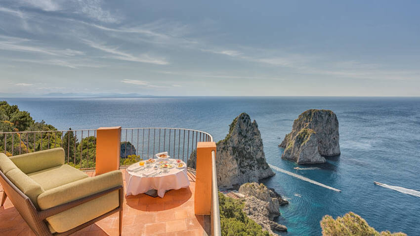 punta tragara hotel capri suite balcony terrace sea view