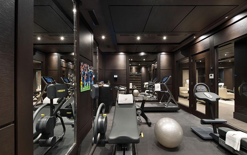 Fitness Gym is Also Option in this Luxury Ski Chalet