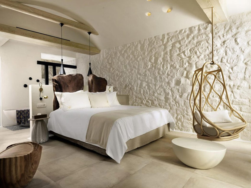 rustic trendy furnished suites mykonos vacation greece