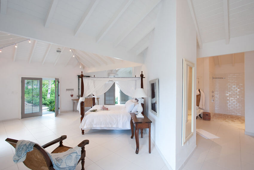 antigua bedroom villa luxury amenities vacation caribbean sea