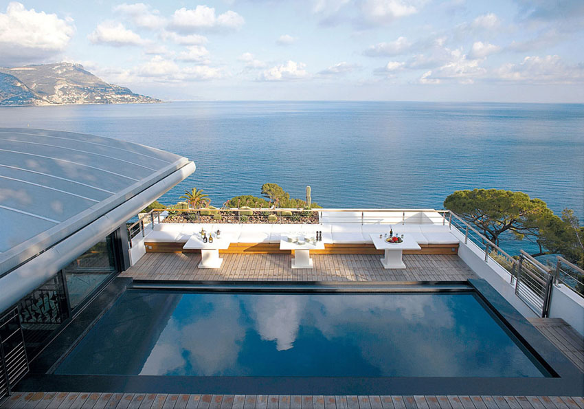 Dream villa on the french riviera with splendid panoramic for Dream roof