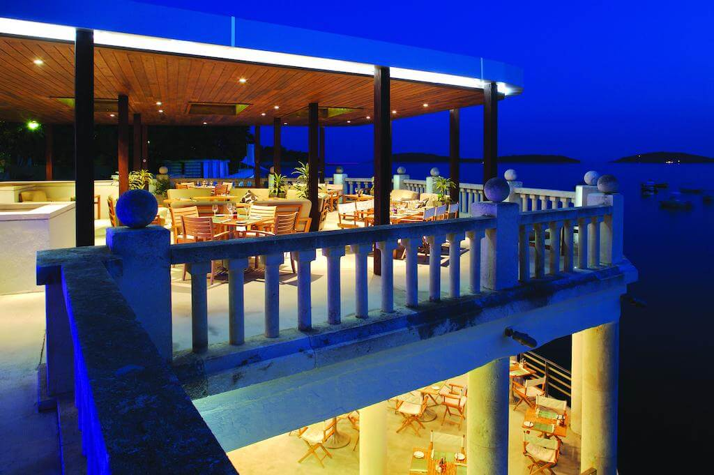 Rooftop Cozy Restaurant at Hvar Amfora Resort in Croatia
