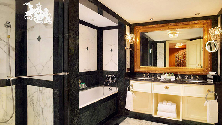 stylish ensuite bathroom hotel imperial vienna