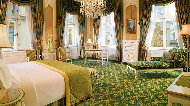 hotel imperial vienna junior suite green decoration