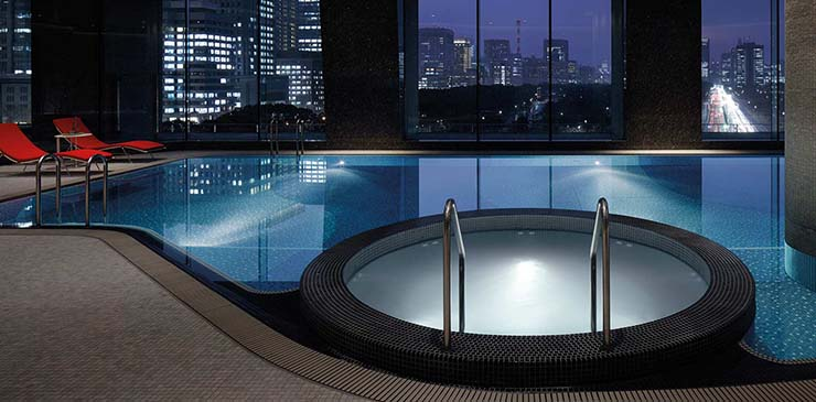 indoor pool palace hotel tokyo night view
