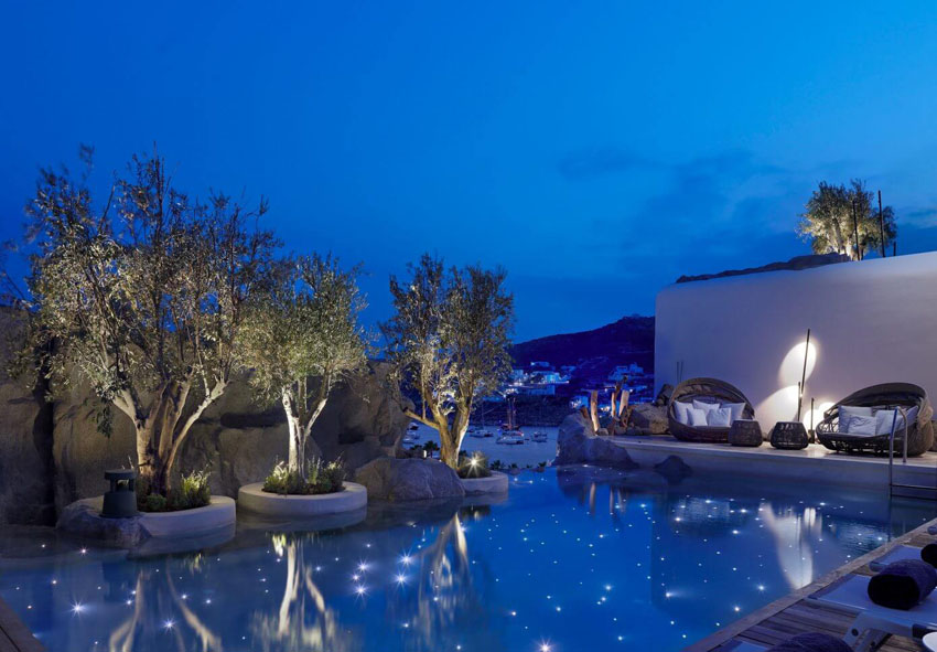 outdoor pool boutique hotel luxury suite mykonos