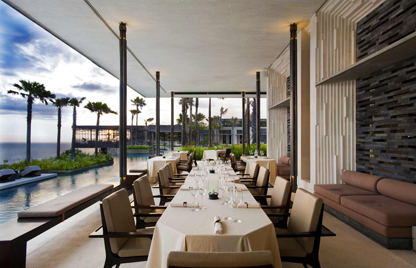 luxury gastronomic restaurant bali hotel alila