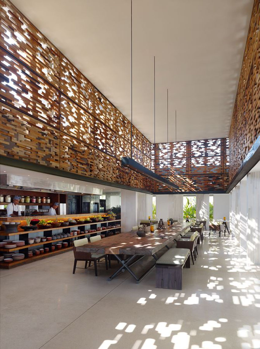 tropical interior design restaurant alila hotel resort