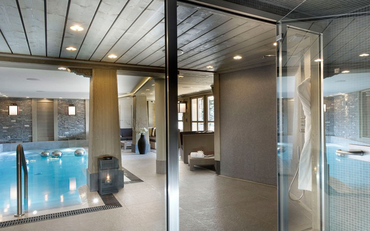 Luxury indoor pool Courchevel ski chalet