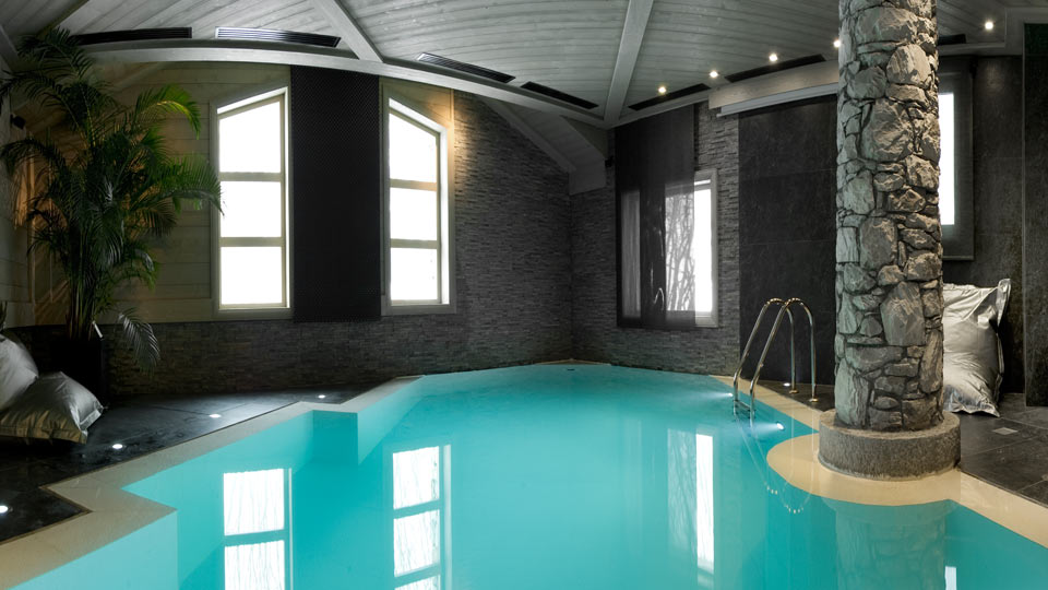 indoor pool luxury chalet for rental in french alps