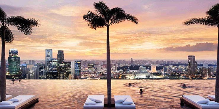 skypark marina bay sands infinity pool