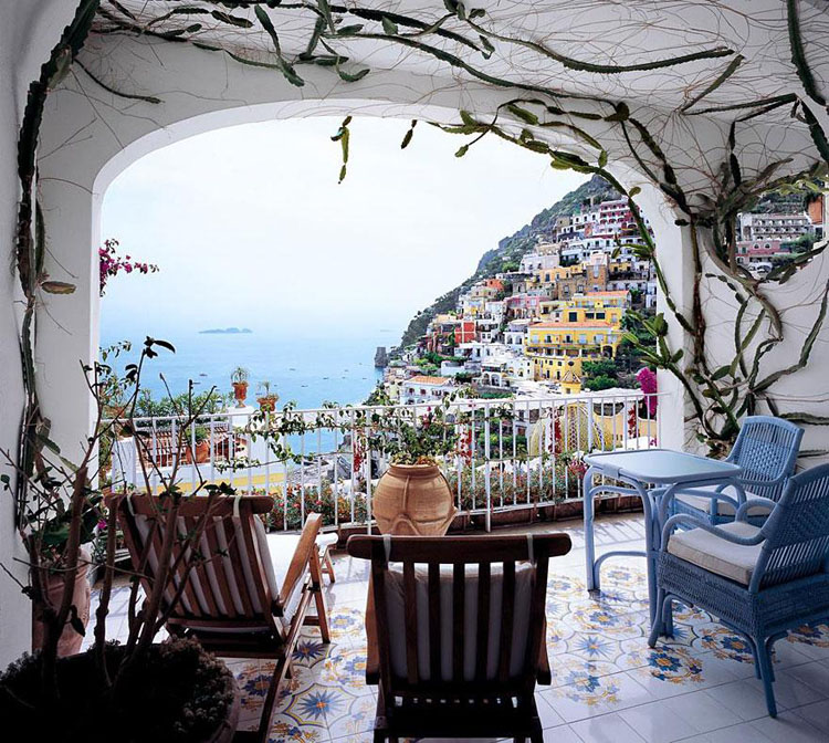 charming view out of ancient italian suite balcony