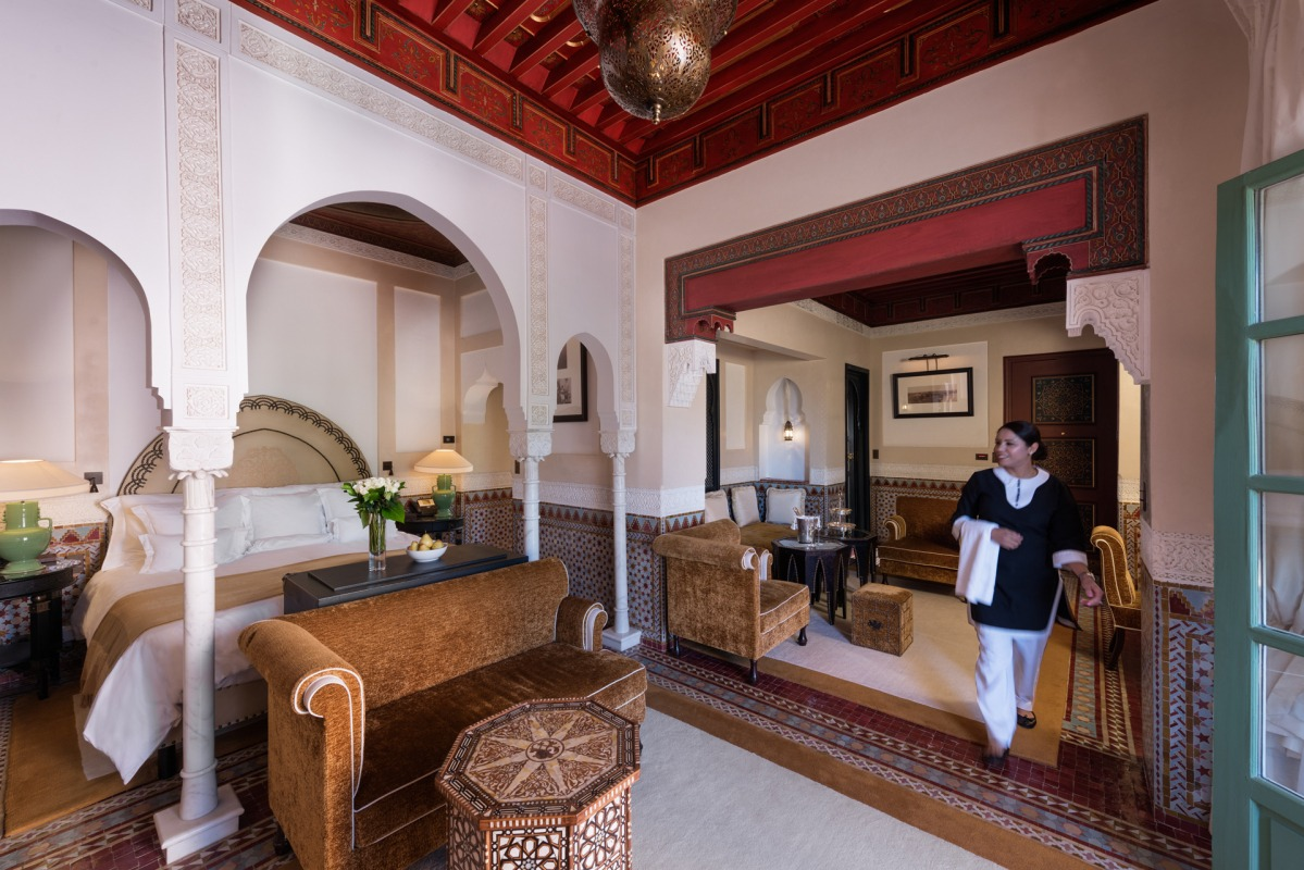 A Look to Agdal Suite part of La Mamounia Hotel in Marrakesh