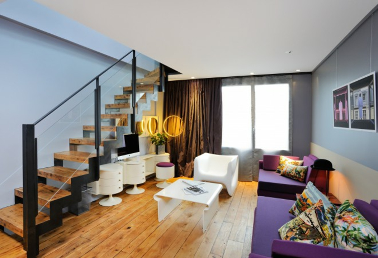 duplex luxury livingroom boutique hotel