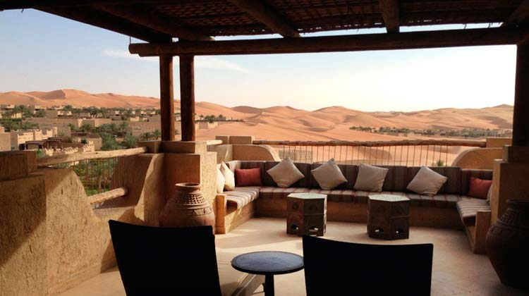 luxury villa view over desert