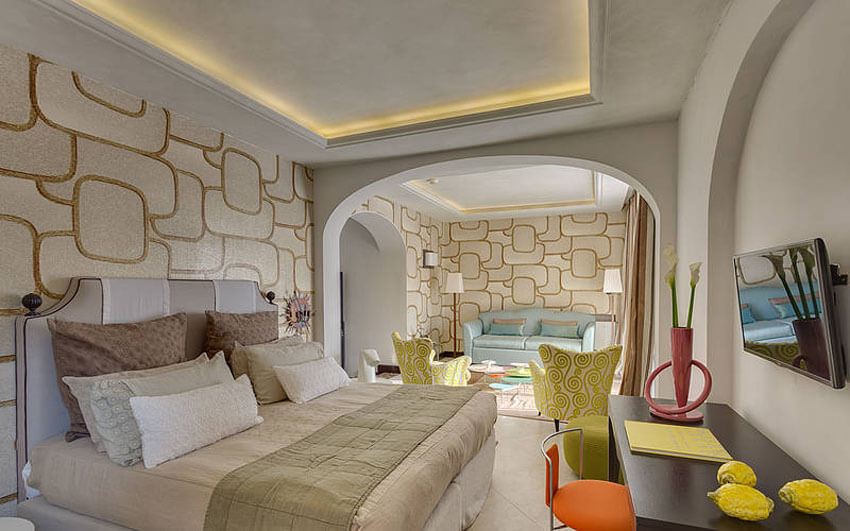 modern creative interior design suite capri hotel luxury prestige