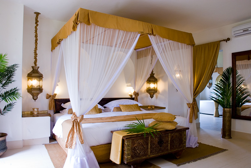 luxury bedroom at baraza resort villa