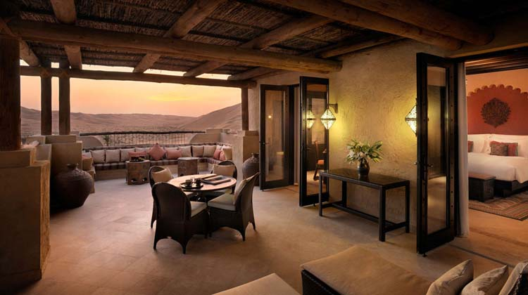 beautiful terrace luxury villa desert resort