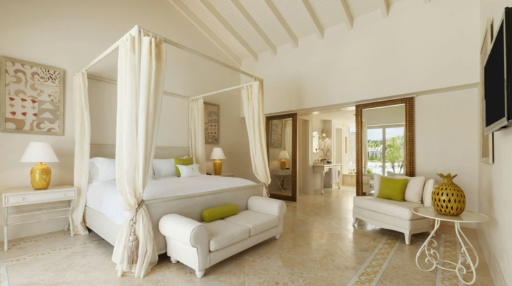 One Of Typical Caribbean Luxury Villas Bedroom