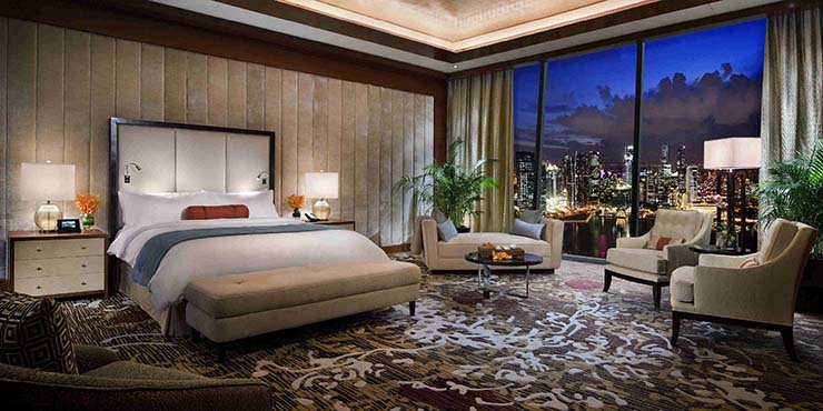 luxury presidential suite view ot city of singapore