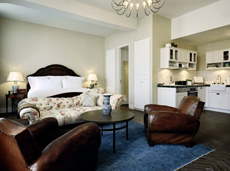 Spacious and stylish interior suite