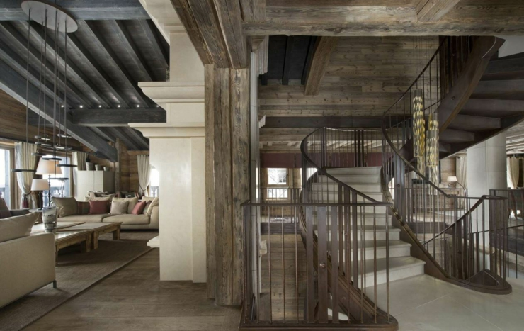 Luxury ski chalet edelweiss in courchevel 1850 france - Interieur chalet montagne photo ...
