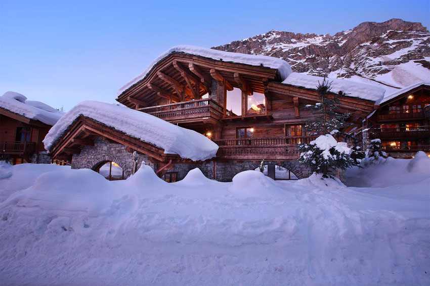 chalet rustic french alpe marco polo