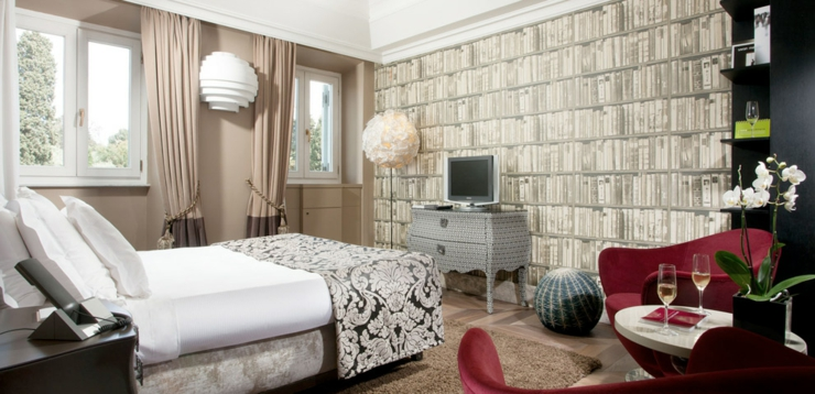 city hotel rome luxury interior