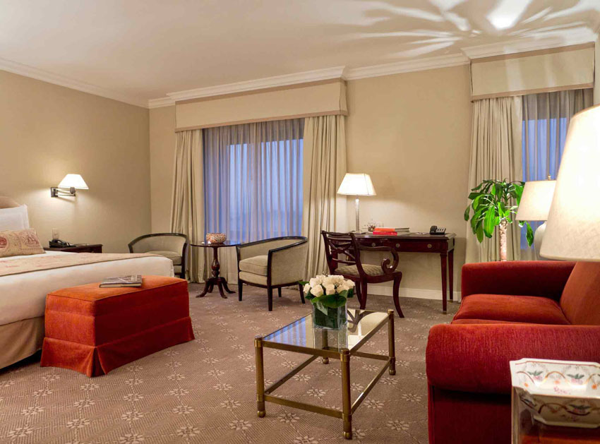 nice and warm interior design hotel suite