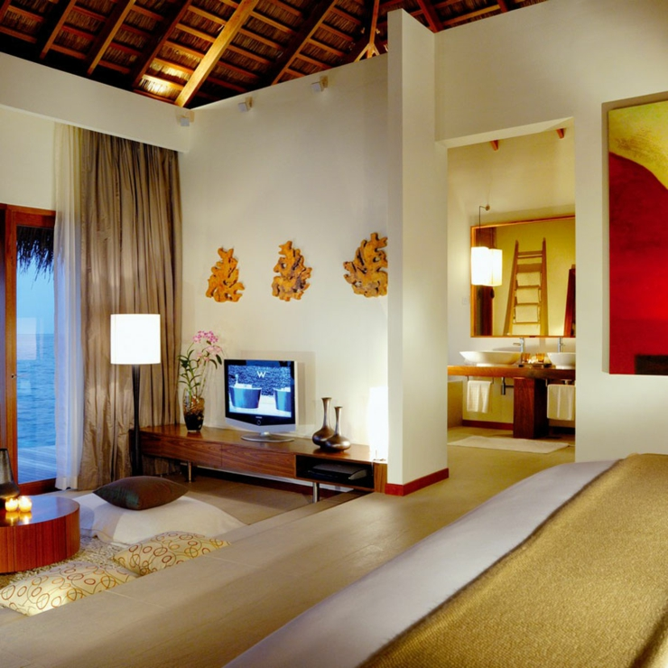 interior tropical furnished luxury villas