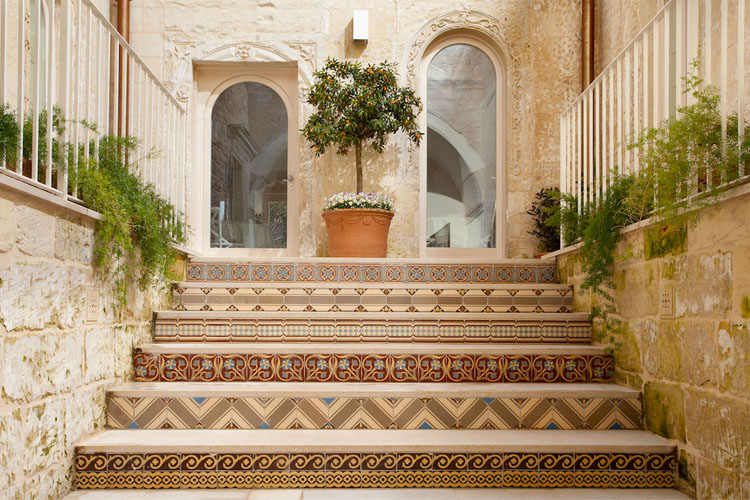 Typical Mediterranean ancient house with rustic interior design in the  heart of Lecce