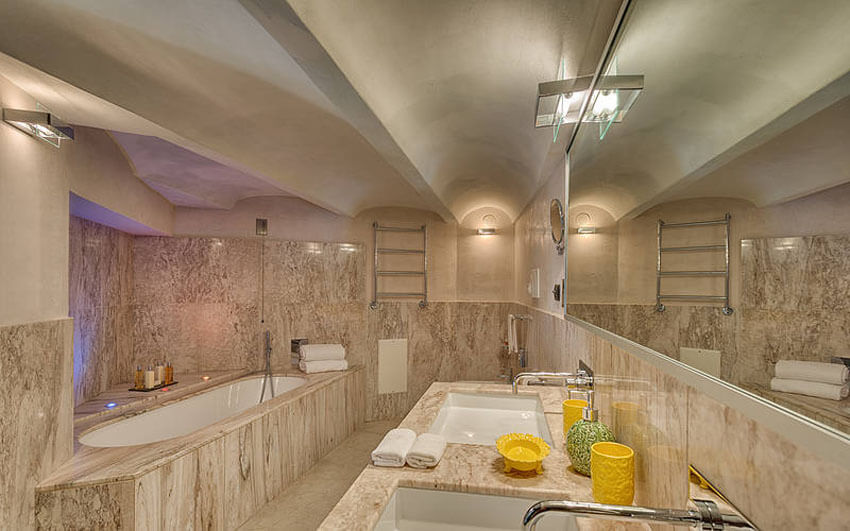 luxury interior design bathroom marble