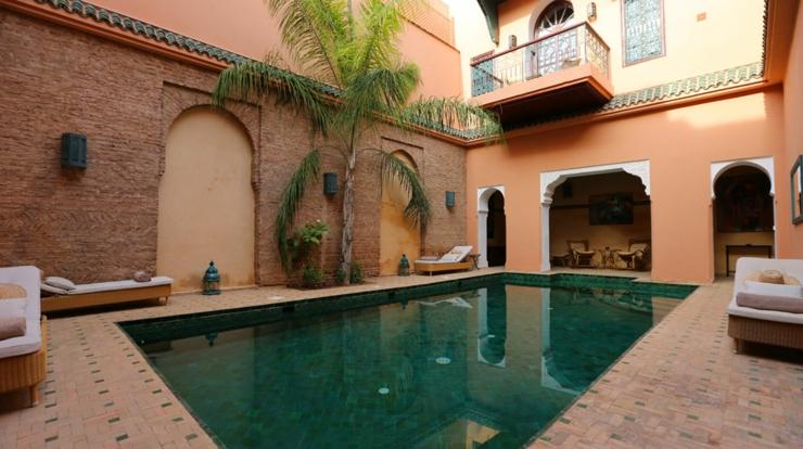 Marrakech Holidays In Riad Lamrani Interior Patio Pool Stay Luxury Hotels